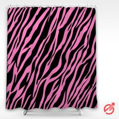 Zebra Pink stripes Shower Curtain #decorative #bathroom #curtain #gift #present #favorite