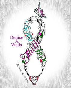 Faigh Hope Love Ribbon tattoo design by Denise A. Wells by ♥Denise A. Wells♥, via Flickr