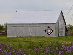'Crown of Thorns' barn quilt at 4774 31st Rd, Udall, KS 67416--Cowley County