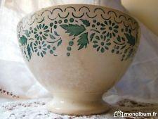 E- énorme et imposant bol ancien  Sarreguemines Digoin 19 éme pour collection
