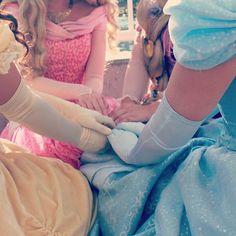 Belle, Aurora, Rapunzel & Cinderella