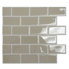 "Smart Tiles Mosaik 9.75"" x 10.95"" Subway Tile in Sand"