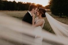 Wispy veil from this lovely fall wedding  | photo by Cody and Allison Photography