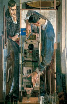 'The Model Makers' by English painter Norman Blamey (1914-2000). Oil paint on board, 150 x 100 cm. via BBC