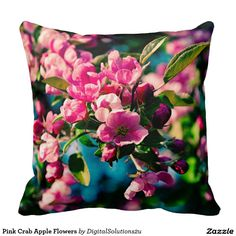 Pink Crab Apple Flowers Pillows