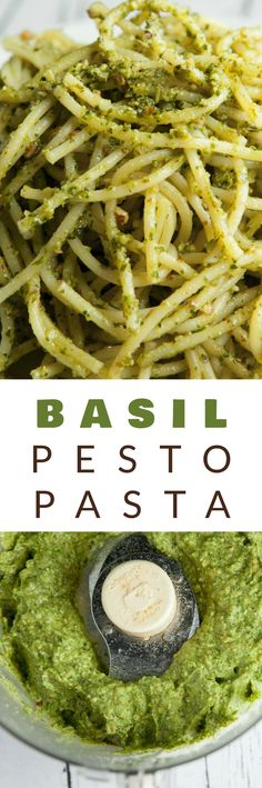 BUDGET FRIENDLY Basil Pesto Pasta recipe made with fresh basil and almonds! This easy, healthy homemade recipe makes delicious basil pesto that can be served over pasta, as appetizers or on a sandwich! Pine nuts are expensive so this is a much more budget friendly pesto. Recipe also includes a vegan alternative.