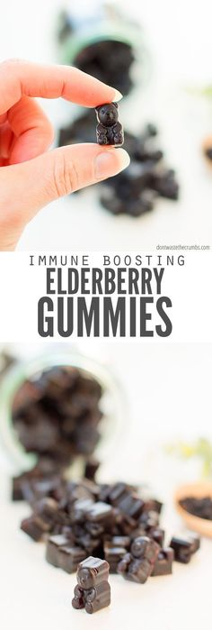 When the cough cold flu or sniffles hit its time to boost your immune system Make these DIY elderberry gummies recipe These healthy treats have so many benefits Youve pro. Elderberry Syrup Uses, Elderberry Benefits, Elderberry Gummies, Elderberry Recipes, Elderberry Pie, Wellness Mama, Health And Wellness, Health Tips, Health Care