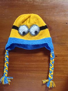 "Ravelry: ""Despicable Me"" Minion Earflap Hat pattern by Juanita McLellan"