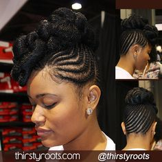 Jet Black Braided Updo To learn how to grow your hair longer click here - http://blackhair.cc/1jSY2ux
