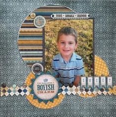 pinterest scrapbook layouts for boys | boy layout by kristie