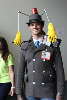 This Inspector Gadget costume is amazing.