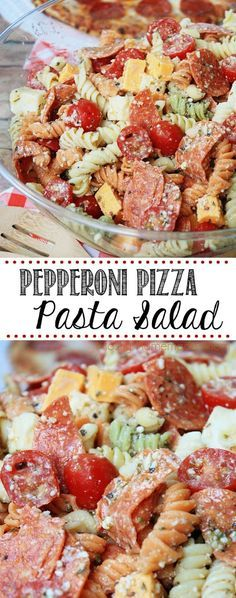 Mostly Homemade Mom: Pepperoni Pizza Pasta Salad