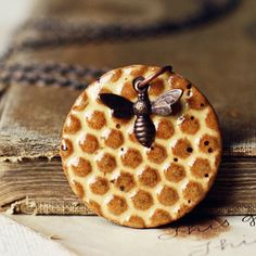 Bees and Honey handmade ceramic necklace by kylieparry on Etsy, $22.00