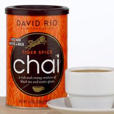 Thinking about picking up some of this to make chai ice cream for my birthday | David Rio Tiger Spice Chai Canister