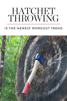 Discover hatchet throwing, the latest workout trend we're kinda scared to try. Outdoor Workouts, Easy Workouts, Dumbbell Workout, Workout Regimen, How To Run Faster, Wellness Tips, Physical Fitness, Fun To Be One, Body Weight