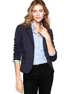 A classic navy blazer is a wardrobe essential!