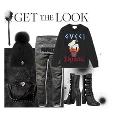my winter look by liekejongman on Polyvore featuring G-Star Raw, Moncler Grenoble, Gucci and Kristin Cavallari