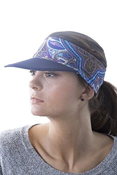 9a3bdcf81c7 Slope Sun Visor Hat with Ponytail Hole Multi-Color Head-wrap for Active  Lifestyle Women – Feather