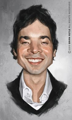 Jimmy Fallon Digital Painting by Brian Astle #JimmyFallon  our winning entry for Jimmy Fallon Art contest see the details here http://www.sketchoholic.com/contests/jimmy-fallon-art-and-illustration-contest-hosted-by-sebastian-cast-sketchoholic-book-pushers-mad-artist-publishing-make-your-book-for-free