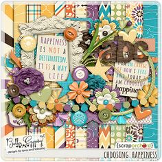 "Choosing Happiness from Bella Gypsy!! Adore the shabby, but colorful use of primarily spring but yet would be perfect for summer scrapping or it could very easily fit nicely into fall/autumn layouts. Yep, sounds versatile enough for me. I'm ""HAPPY""! #bellagypsy #happiness"
