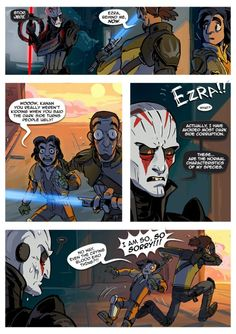 Star wars rebels comic- Omg Ezra! XD
