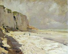 "Konstantin Alekseyevich Korovin ~ ""The Seashore in Dieppe"" (1889)"