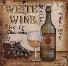 White Wine by Kim Lewis art print
