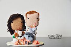 PRIVATE LISTING  Custom Wedding Cake Topper  Handmade by MmeHibou
