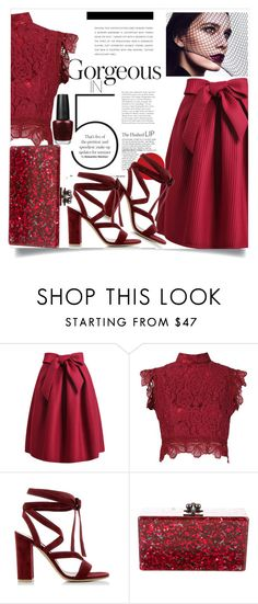 """""""Untitled #1142"""" by capm ❤ liked on Polyvore featuring Martha Medeiros, Gianvito Rossi and Edie Parker"""
