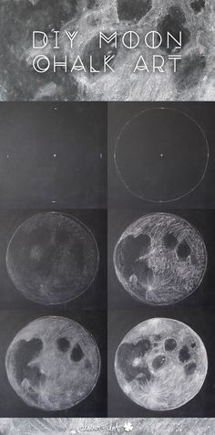DIY Moon Chalkboard Art | Clover + Dot