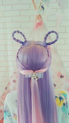 Elf Dream Peacock little girl hairstyles Kawaii Hairstyles, Flower Girl Hairstyles, Easy Hairstyles For Long Hair, Little Girl Hairstyles, Cute Hairstyles, Anime Hairstyles, Hairstyles Videos, Wacky Hair Days, Crazy Hair Days