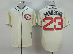 MLB CHICAGO CUBS #23 SANDBERG CREAM WHITE 1929 New Throwbacks Jersey