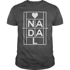 Awesome Tennis Lovers Tee Shirts Gift for you or your family member and your friend:  Nadal white words Tee Shirts T-Shirts