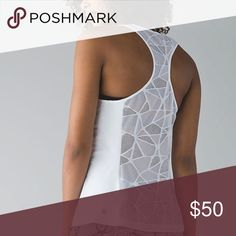 Lululemon Goal Crusher Tank Brand new with tags. I bought it impulsively for myself, but I have too many workout tops and I need to downsize. Has beautiful mesh detailing in the back. More pictures to come soon. Bundle and save! 😁💕😊 lululemon athletica Tops Tank Tops