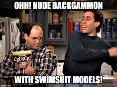 Nude backgammon with swimsuit models! Seinfeld, Mens Sunglasses, Swimsuits, Nude, Youtube, Models, Style, Fashion, Templates