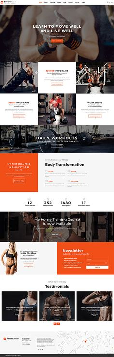 Edward Newman - Crossfit Trainer Multipage Website Template