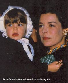 Caroline, Princess of Hanover, Hereditary Princess of Monaco and her daughter Charlotte Casiraghi