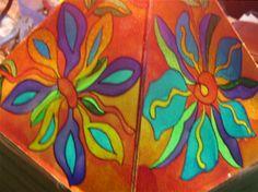 lampade dipinte a mano