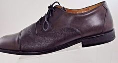 5c0a7eb09 Bostonian Oxford CapToe Dress Leather Casual Brown Mens Shoes Size US 12 M EU  46