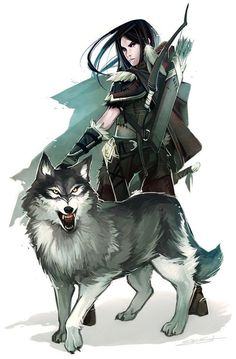 """This made me think of Thalia & her borrowed Guardian, Wolf (Iron Butterfly series). """"Ja, I be fierce!"""""""