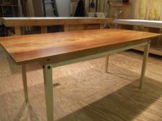 Cherry and curly maple kitchen table