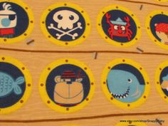 Flannel Fabric  Pirate Ship  1 yard  100% Cotton by SnappyBaby