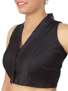 Buy The Blouse Factory black silk blouse Online, , LimeRoad