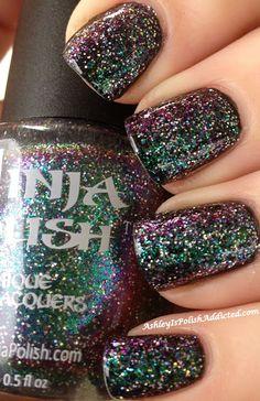 Ninja Polish: Nebula Ninja Nail Polish Lacquer Floam Holographic metallic effect nail polish @opulentnails #ninjanails #floam