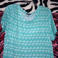 Light blue elephant tshirt dress! Brand new never worn! Size 2x. Make offers! Not forever 21!!  from a boutique . Forever 21 Dresses