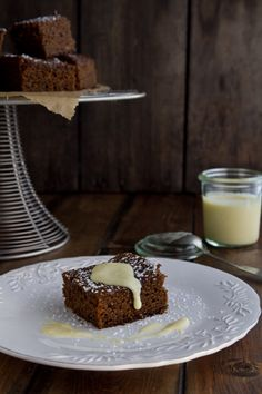 Gingerbread with Spiked Creme Anglaise from A Communal Table. Click through for recipe.