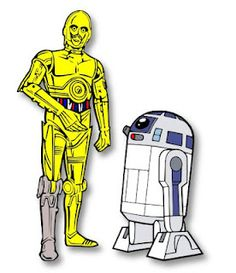 Star Wars C-3PO and R2-D2 SVG Free @ theladywolf.blogspot.com