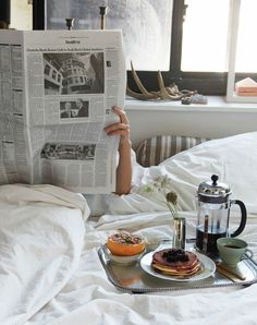 Breakfasts in bed.