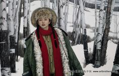 Wang Yidong (王沂东; b1955, Yimeng Mountain area of Shandong Province, China). He is an older brother of another notable painter, Wang Yiguang (王沂光; b1960) --?