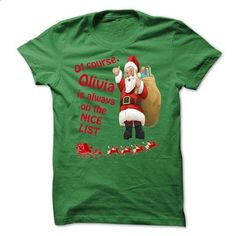 Christmas Tshirt For Only Olivia! - #grey shirt #american eagle hoodie. PURCHASE NOW => https://www.sunfrog.com/Christmas/Christmas-Tshirt-For-Only-Olivia.html?68278